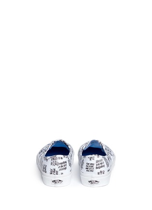 Back View - Click To Enlarge - Vans - x Baron Von Fancy 'Authentic' slogan print canvas sneakers