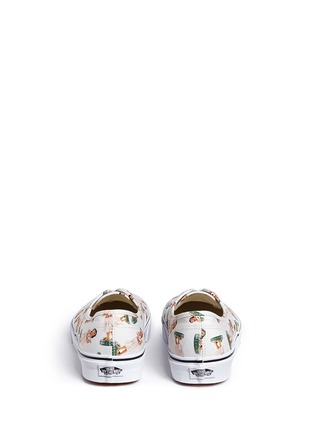 Back View - Click To Enlarge - Vans - 'Digi Hula Authentic' doll print canvas sneakers