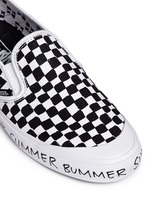 x Summer Bummer checkerboard print skate slip-ons