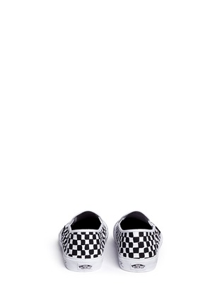 Back View - Click To Enlarge - Vans - x Summer Bummer checkerboard print skate slip-ons
