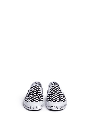 Figure View - Click To Enlarge - Vans - x Summer Bummer checkerboard print skate slip-ons