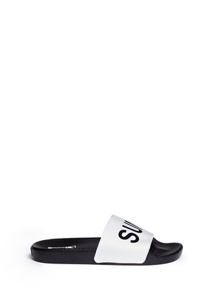 Main View - Click To Enlarge - Vans - x SUMMER BUMMER 'Sum Bum' faux leather slide sandals