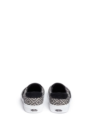 Back View - Click To Enlarge - Vans - '59 Cup' diamond pattern embroidered slip-ons