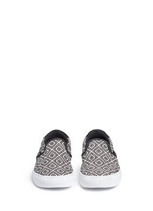 Front View - Click To Enlarge - Vans - '59 Cup' diamond pattern embroidered slip-ons