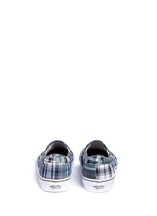 Back View - Click To Enlarge - Vans - 'Classic' plaid patchwork skate slip-ons