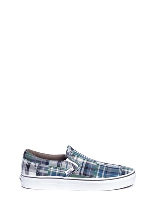 Main View - Click To Enlarge - Vans - 'Classic' plaid patchwork skate slip-ons