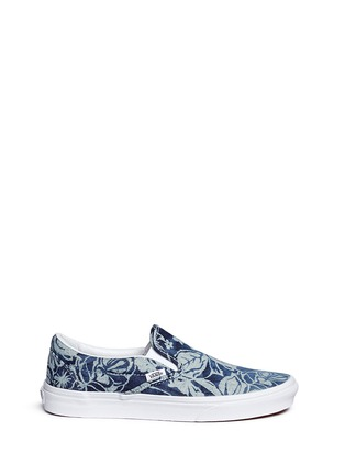 Main View - Click To Enlarge - Vans - 'Indigo Tropical Classic' denim skate slip-ons