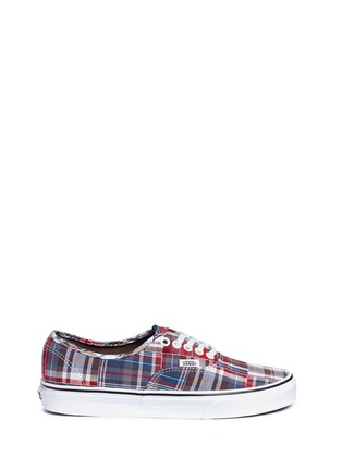 Main View - Click To Enlarge - Vans - 'Authentic' plaid patchwork sneakers