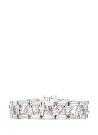 Main View - Click To Enlarge - CZ by Kenneth Jay Lane - Baguette cut cubic zirconia bracelet