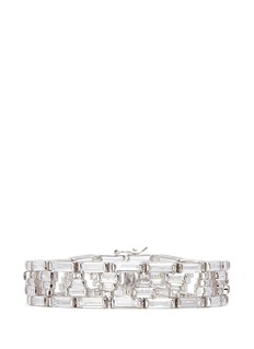 CZ by Kenneth Jay Lane Baguette cut cubic zirconia bracelet