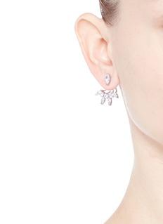 CZ by Kenneth Jay LaneMixed cubic zirconia fan jacket earrings