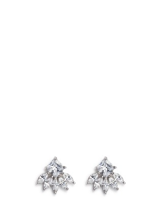 Main View - Click To Enlarge - CZ by Kenneth Jay Lane - Cubic zirconia marquise fringe earrings