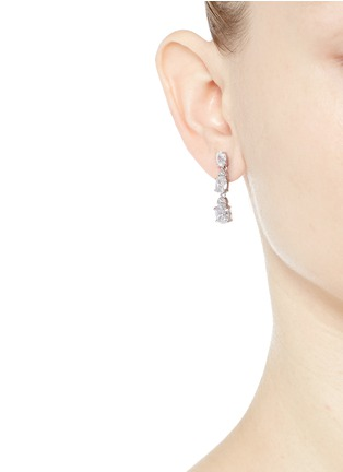 Figure View - Click To Enlarge - CZ by Kenneth Jay Lane - Graduating oval cut cubic zirconia drop earrings