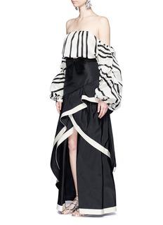 Johanna Ortiz'Julio Verne' suede bow belt silk taffeta skirt