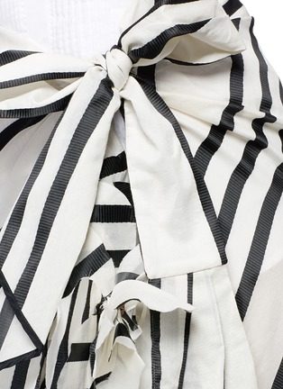 Detail View - Click To Enlarge - Johanna Ortiz - 'Duncan' stripe cotton-silk wrap maxi skirt