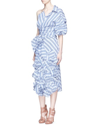 Figure View - Click To Enlarge - Johanna Ortiz - 'Emma' stripe floral appliqué skirt