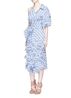Johanna Ortiz'Emma' stripe floral appliqué skirt