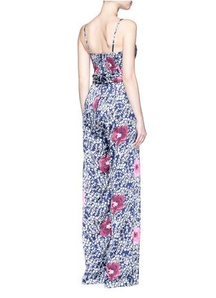 Back View - Click To Enlarge - Johanna Ortiz - 'Fermina' floral print sash tie wide leg jumpsuit