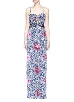 'Fermina' floral print sash tie wide leg jumpsuit