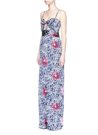 Figure View - Click To Enlarge - Johanna Ortiz - 'Fermina' floral print sash tie wide leg jumpsuit