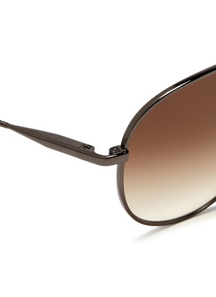 Detail View - Click To Enlarge - Lanvin - Wrapped top bar screw edge metal aviator sunglasses