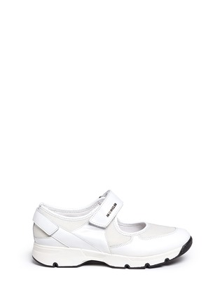 Main View - Click To Enlarge - Moncler - 'Claudine' strap mesh leather sneakers