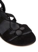 'Roman Flat' suede gladiator sandals