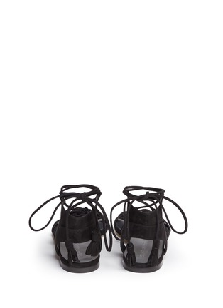 Back View - Click To Enlarge - Stuart Weitzman - 'Roman Flat' suede gladiator sandals