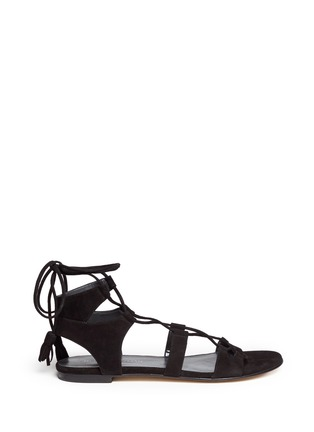 Main View - Click To Enlarge - Stuart Weitzman - 'Roman Flat' suede gladiator sandals