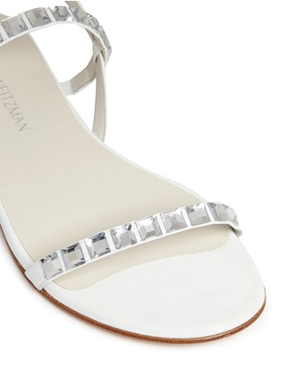 Detail View - Click To Enlarge - Stuart Weitzman - 'Trail Mix' jewelled leather sandals