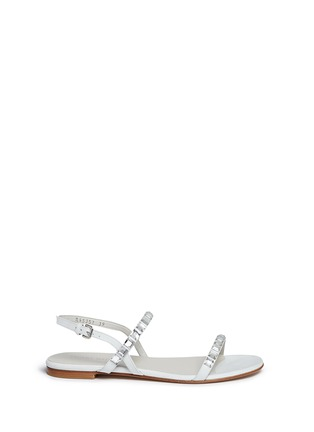 Main View - Click To Enlarge - Stuart Weitzman - 'Trail Mix' jewelled leather sandals