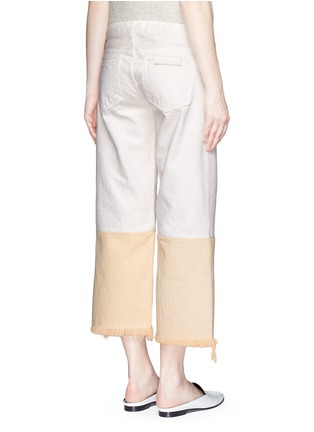 Back View - Click To Enlarge - Simon Miller - 'Tazo' colourblock frayed wide leg cropped jeans