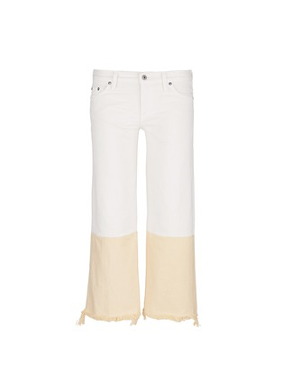Main View - Click To Enlarge - Simon Miller - 'Tazo' colourblock frayed wide leg cropped jeans