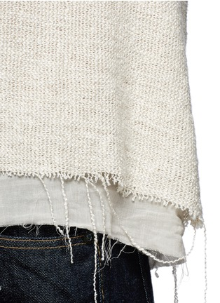 Detail View - Click To Enlarge - Simon Miller - 'Attoyac' double layer raw hem muscle top