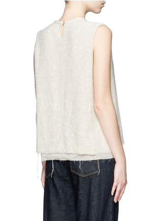 Back View - Click To Enlarge - Simon Miller - 'Attoyac' double layer raw hem muscle top