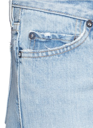 Detail View - Click To Enlarge - Simon Miller - 'Yerma' frayed cuff ripped light wash jeans