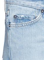 'Yerma' frayed cuff ripped light wash jeans