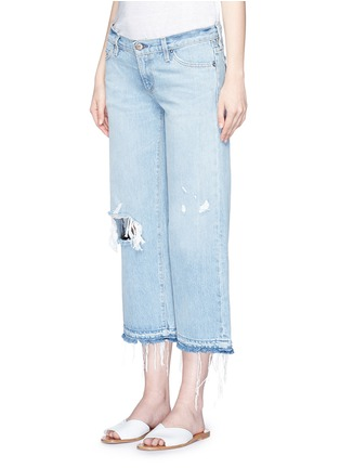 Simon Miller-'Yerma' frayed cuff ripped light wash jeans