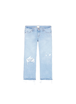 Main View - Click To Enlarge - Simon Miller - 'Yerma' frayed cuff ripped light wash jeans