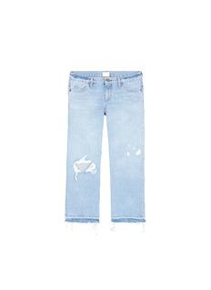Simon Miller'Yerma' frayed cuff ripped light wash jeans