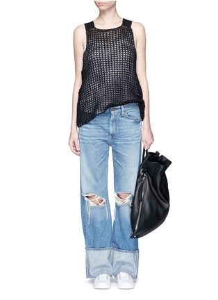 Figure View - Click To Enlarge - Simon Miller - 'Arapo' distressed light wash wide leg jeans