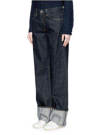 Front View - Click To Enlarge - Simon Miller - Zuna' dark wash wide leg jeans