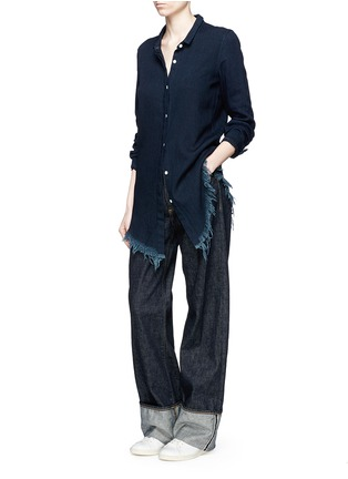 Figure View - Click To Enlarge - Simon Miller - Zuna' dark wash wide leg jeans