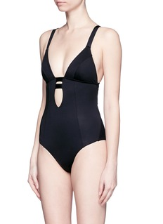 VITAMIN A'Neutra' strappy cutout one-piece swimsuit