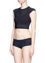 'Camila' perforated cropped rash guard
