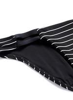 'Neutra' stripe cutout hipster bikini bottoms