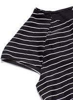 'Estella' cropped stripe rash guard