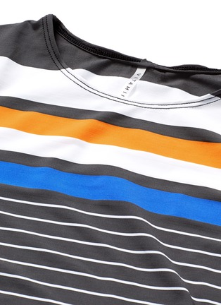 Detail View - Click To Enlarge - Vitamin A - 'Cannes' variegated stripe cropped rashguard