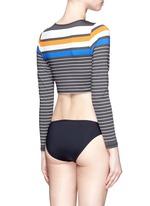 'Cannes' variegated stripe cropped rashguard