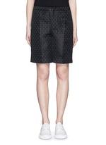 Floral jacquard Bermuda shorts